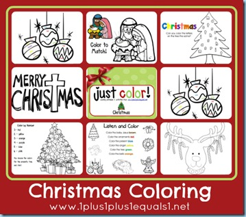 Free Christmas Coloring Worksheets