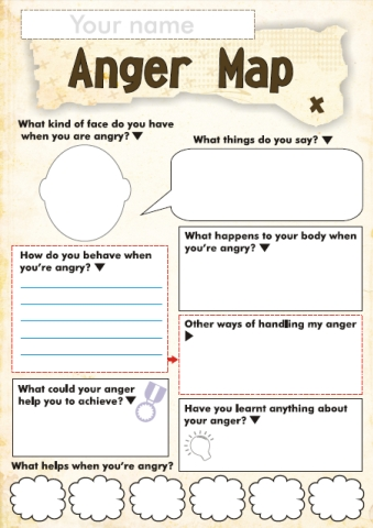 Free Anger and Feelings Worksheets for Kids | Free Homeschool Deals ©
