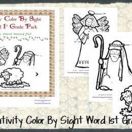 FREE Nativity Color 1st & 3rd Grade Worksheet Packets
