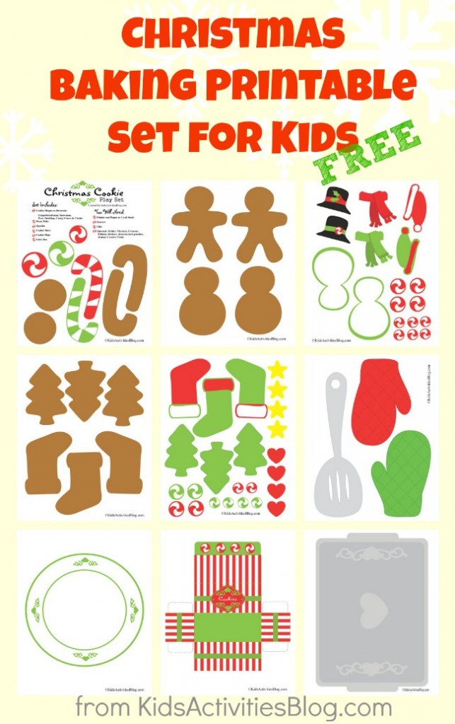 Free {Cute} Christmas Cookie Printables