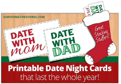 Free Printable Mom & Dad Date Night Cards For Stocking Stuffers ...