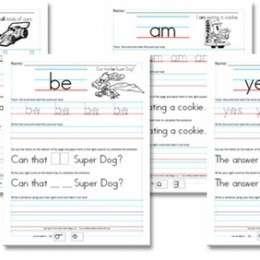 Free Worksheets: Kindergarten (Primer) Sight Word Sentences