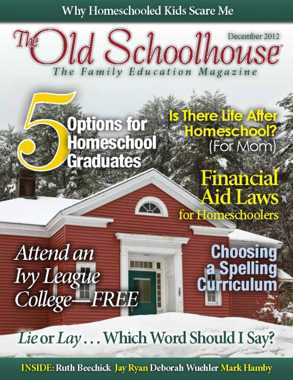 Free Homeschool Magazine December Issue Of The Old School