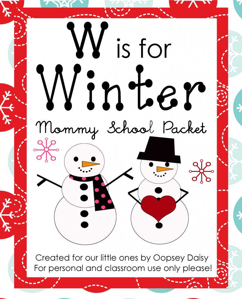 Free Homeschool Worksheets: W is for Winter Packet : Free ...
