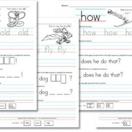 Free Homeschool Worksheets: First Grade Sight Word Sentences