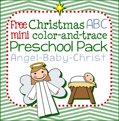 Free Christmas Angel ABC Preschool Pack