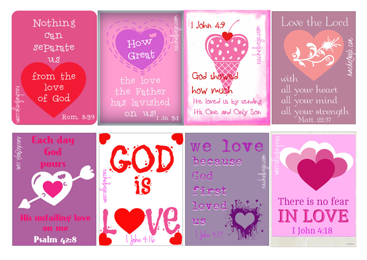 FREE Printable Valentines With Bible Verses