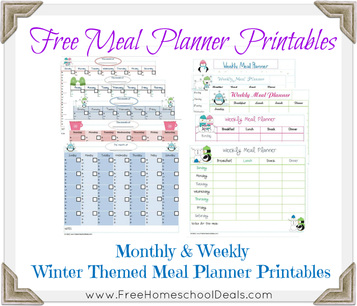 ... meal planner printables to go along with my free meal and freezer