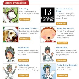 Free Literature Printables: Charlotte's Web, Amelia Bedelia, Fancy Nancy, + More!