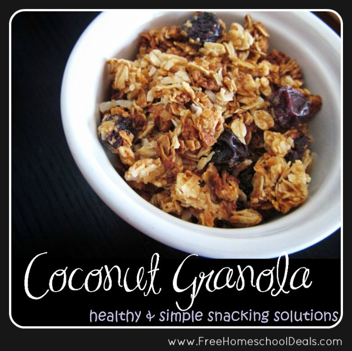 Homemade Coconut Granola | Free Homeschool Deals ©