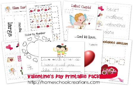 Free Valentine's Day Printables for Preschool and Kindergarten