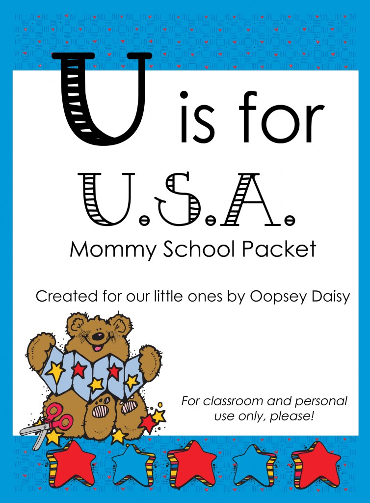 Free Printable Worksheets Packets : Free homeschool printables u is for usa packet