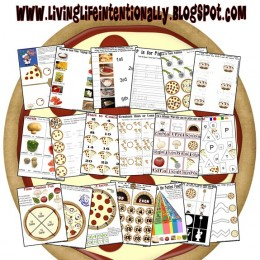 Free Pizza Themed Printable Learning Pack