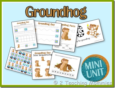 Free Groundhog's Day Printable Set