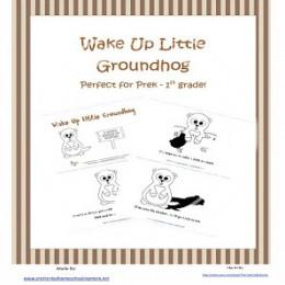 Groundhog Day Freebie: Free Printable Emergent Reader Wake Up Little Groundhog