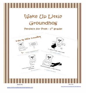 Groundhog Day Freebie: Free Printable Emergent Reader Wake Up Little Groundhog