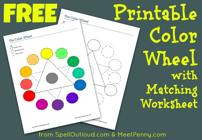 Free Printable Colorwheel with Matching Worksheet