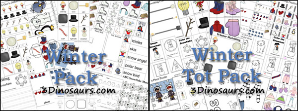Free Preschool and Kindergarten Winter Printable Pack