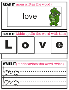 Free Read It, Spell It, Write It Printable Set