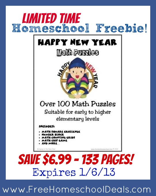 Homeschool Math Freebie