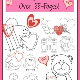 Free Valentine's Day Coloring Worksheets (55-Pages)