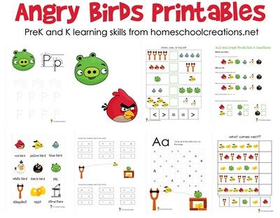 Free Angry Birds Prek And Kindergarten Printable Packs