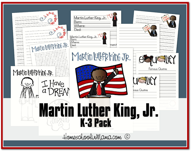 Free Preschool and K-3 Martin Luther King Jr Printables | Free ...
