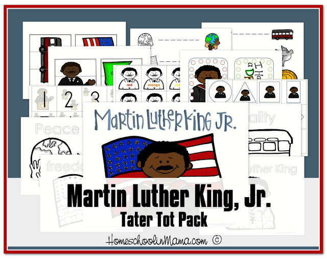 Free Preschool and K-3 Martin Luther King Jr Printables