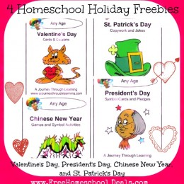 Homeschool Freebies Valentine's, President's, and St. Patrick's Day Resources