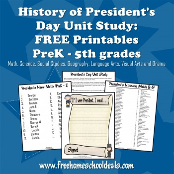 Free Presidents Day Unit Study with FREE Printables
