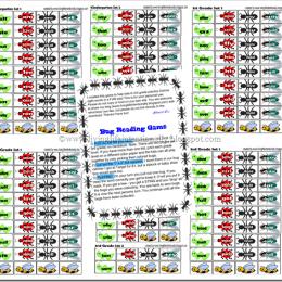 Free Printable Bug Sight Words Game (K-2nd)
