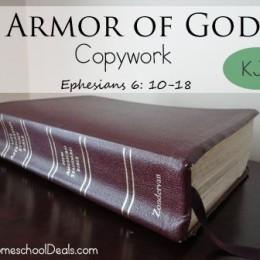 Free Armor of God Copywork (KJV)