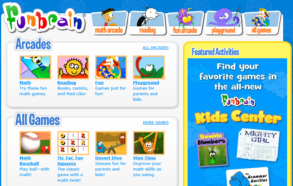Free Online Games: FunBrain
