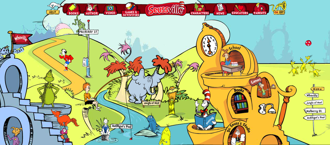 Free Educational Resource: Dr. Seuss Seussville.com