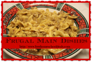 Frugal Main Dishes