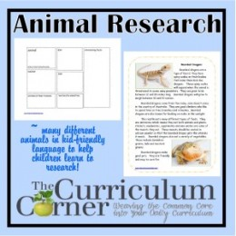 Free Homeschool Science: Animal Research Printables