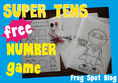 Free Super Tens Math Printable Game