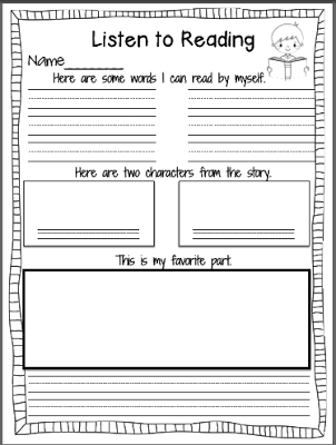 Book Report Cover Sheet
