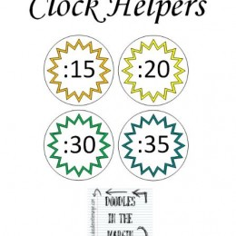 Free Clock Helpers Printables (Learning to Tell Time in 5-Minute Intervals)