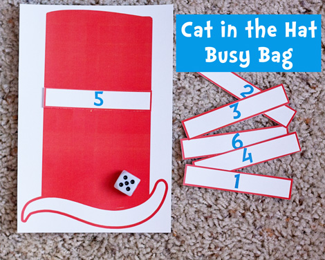 Free Cat in the Hat Busy Bag Printables
