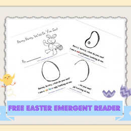 Free Bunny, Bunny, What Do You See? Emergent Reader