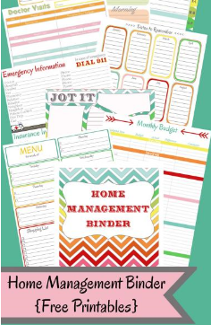 Free Home Management Binder