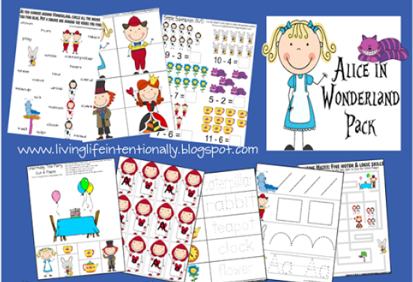 Free Alice in Wonderland Printable Pack