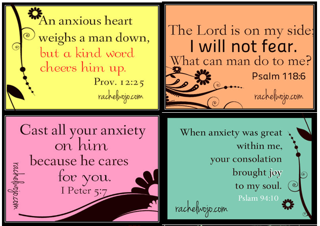 Free Printable Scripture Cards to Combat Worry and Fear