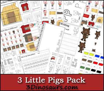 math worksheet : free worksheets three little pigs printable pack  free  : Three Little Pigs Worksheets Kindergarten