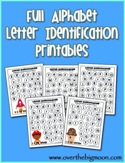 Free Full Alphabet Letter Identification Printables