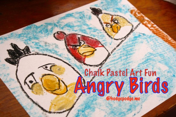 Free Angry Birds Chalk Pastel Tutorial