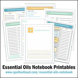 Free Wellness Notebook and Essential Oils Printables