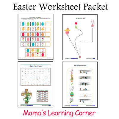Free Printable Easter Worksheet Packet from Mama's Learning Corner