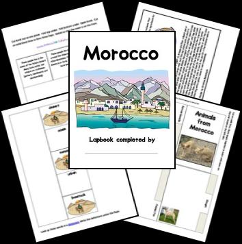Free Morocco Lapbook